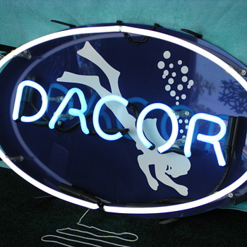 Oue Vintage DACOR Diving Equpment Working Neon - Signs