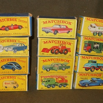 Matchbox Monday Matchbox Box School D E And F Style Boxes - Model Cars