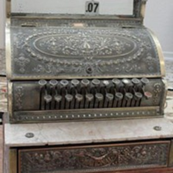 antique 1913 cash register - Coin Operated