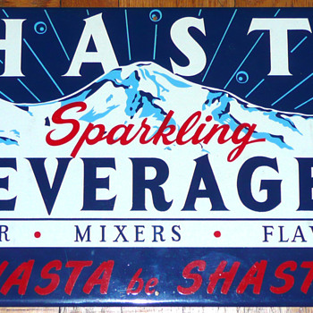 Shasta Sparkling Beverages Sign