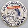 "1970s San Francisco Street Artists 2.25"" Pinback"