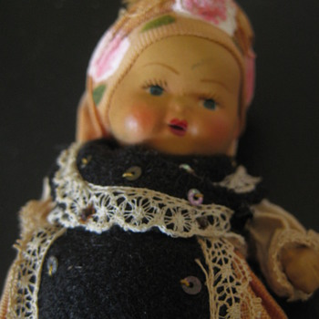 "Vintage 5"" composition doll"