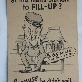 Vintage Shell Gas Postcard - Advertising