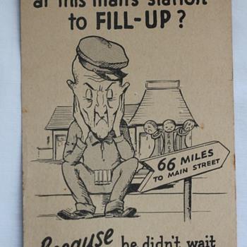 Vintage Shell Gas Postcard - Advertising