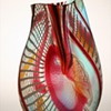 Murano Art Glass vase by Maestro Afro Celotto titled TIBERIO