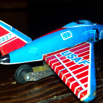 Tin Litho United States Air Force Plane - Toys