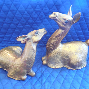 "Freeman-McFarlin California Pottery ""Anthony"" Gold Leaf Llamas - Pottery"