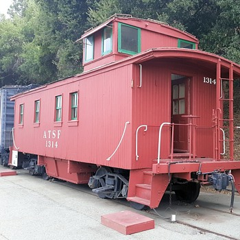 Santa Fe Caboose No. 1314 At the RailGiants Museum at the Fairplex - Railroadiana