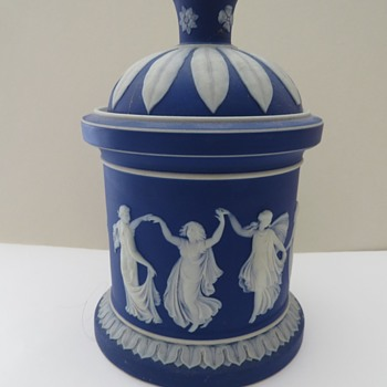 Wedgwood Jasperware Dancing Hours Tobacco Jar