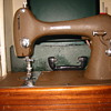 International Sewing Machine and the box of attachments