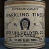 Vintage Uhlfelder Tinsel Container