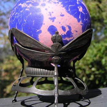 Art Nouveau Dragonfly Lamp - Art Nouveau