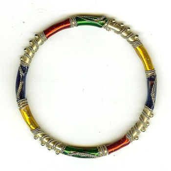 Vintage? Enamel Bangle Bracelet