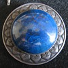 Andreas Odenwald silver blue gem hat pin.