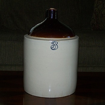 Antique 3 Gallon Stoneware Jug