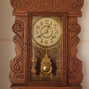 New Haven Clock found hidden in a boarded up fireplace. - Clocks