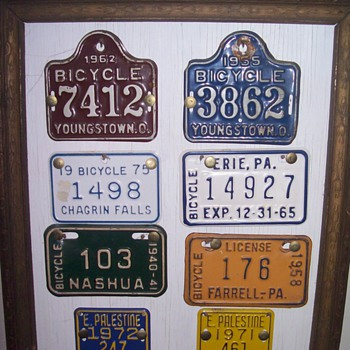 Bicycle plates.