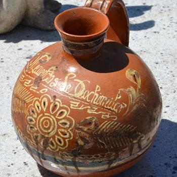 Recuerdo de Xochimilco - Antique Aguamanil