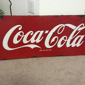 Coca Cola Sled Sign - Coca-Cola