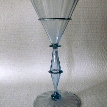 thin walled goblet - Art Glass
