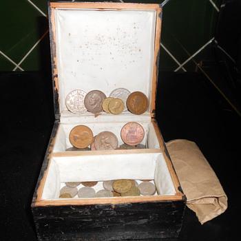 English coins circa 1940 on onwards.