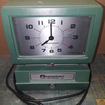 ACROPRINT time recorder/punch clock - Clocks