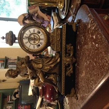 Ansonia Mantle Clock - Boy with lyre - Clocks