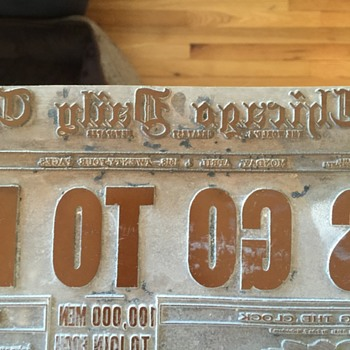 Old printing press plates