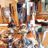 Coffee! with cream and sugar! 1924 Art Deco Electric Percolator, like new! works perfect!!