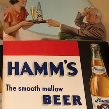 1940s Hamms Litho  - Breweriana