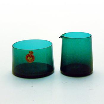 BALTICA creamer and sugar bowl, Per Lütken (Holmegaard, 1967) - Art Glass