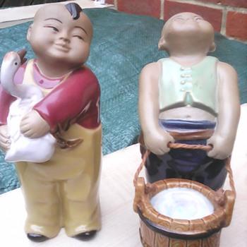 Chinese mudmen children - Asian
