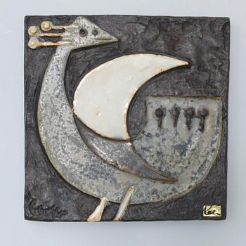 helmut friedrich schäffenacker wall plaque G-75 - Pottery