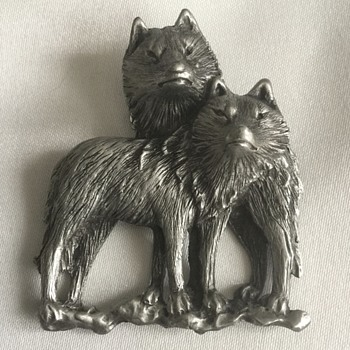 Jonette Jewelry Company Brooches — Wolf, Parrot, Elephant ... Representational  - Costume Jewelry