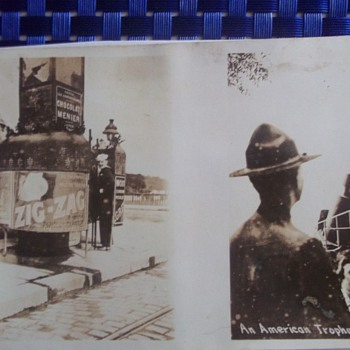ODD WW1 Postcard with 2 different images - Photographs