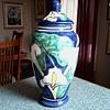 "Large Talavera Pottery ""Calla Lily""  Vase-Jar with Lid / Marked Talavera Castillo Mexico/Circa 19??"
