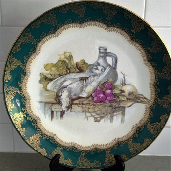 Porcelain Wall Plate signed Martinez - China and Dinnerware