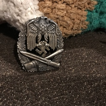 World War II 50 special grade assault Badge - Military and Wartime