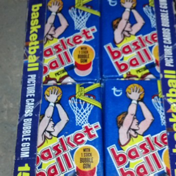 1977 unopened box of topps basketball cards