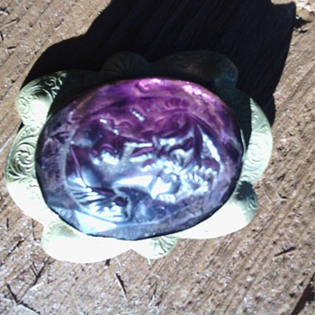Purple Cameo - Costume Jewelry