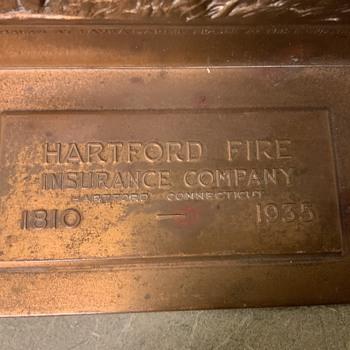 Hartford Insurance 125 year anniversary bookends - Books