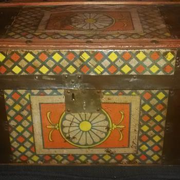 Antique Children's Trunk  - Furniture