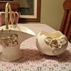 #667 porcelain  basket  and  008/B bowl