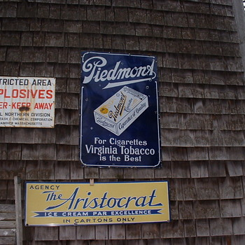 Piedmont/ Ice Cream/Explosives Porcelain Signs on Pa's Barn!!! - Signs