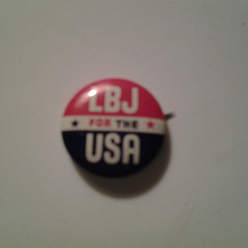 LBJ political pin