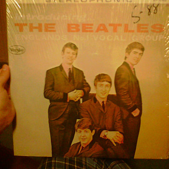 Introducting The Beatles Early LP in plastic