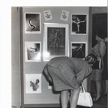 Black & White Photo - 1967 of a Lady Bending Over  8 x 10 Indianapolis Newspaper Photographer - Photographs