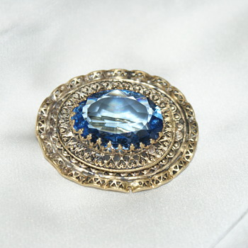 Vintage Brooch Made in Czechoslovakia - Costume Jewelry
