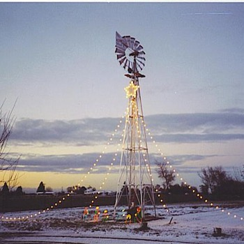 My windmill,and the nativity scene - Christmas