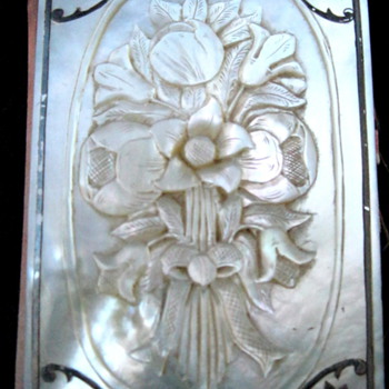 Ivory Carved French Diary or maybe mother of pearl? - Books